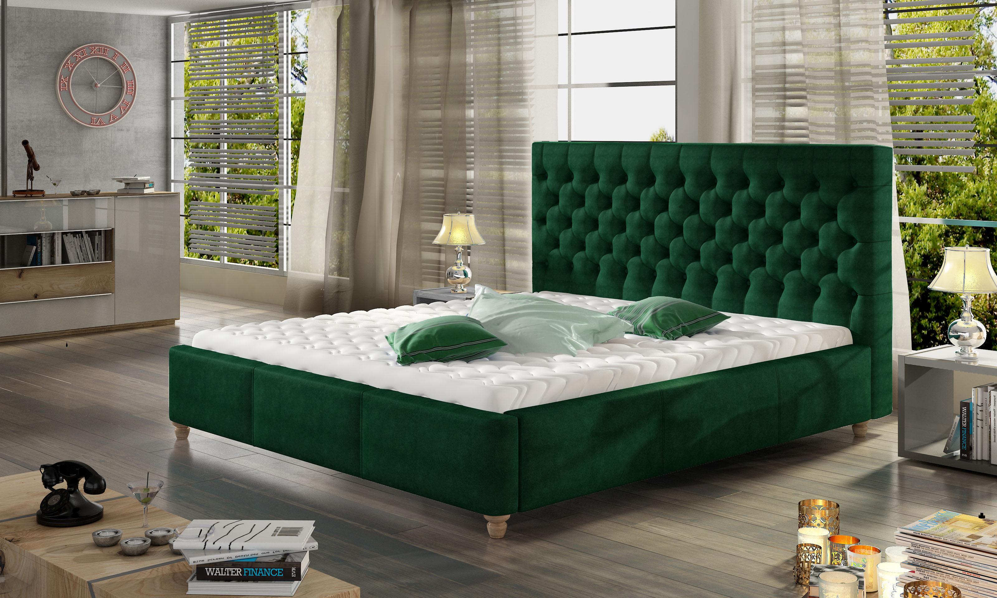 Manželská postel 140 cm - Cheriton (s roštem)