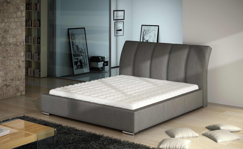 Manželská postel 140 cm - Clutton (s roštem)