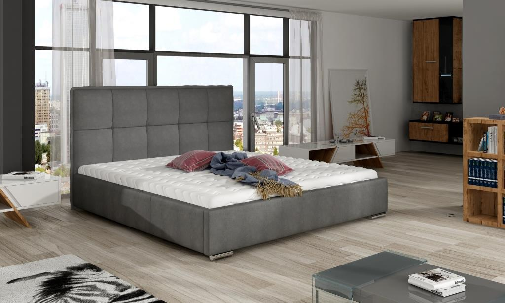 Manželská postel 140 cm - Corwen (s roštem)