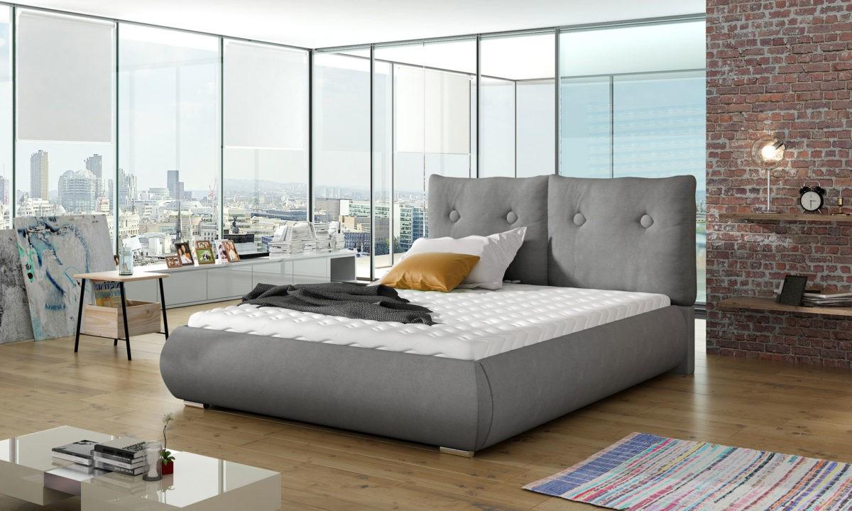 Manželská postel 140 cm - Danehill (s roštem)