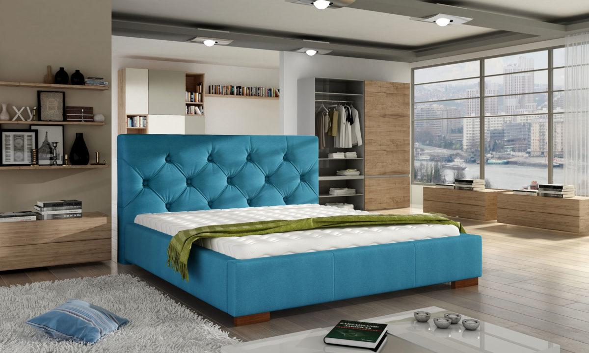 Manželská postel 140 cm - Ellington (s roštem)