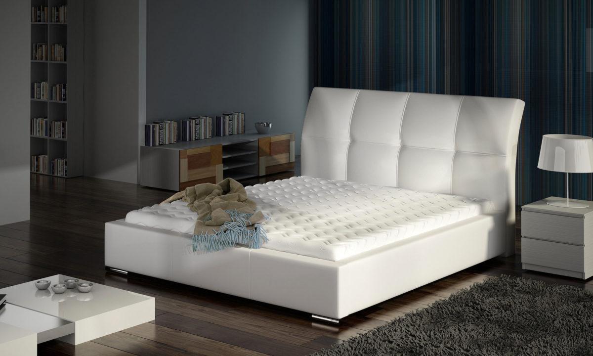 Manželská postel 140 cm - Emberton (s roštem)