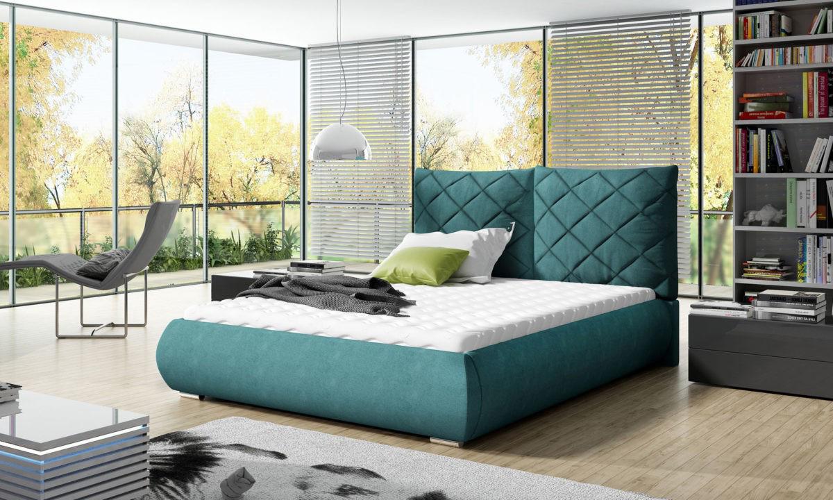 Manželská postel 140 cm - Gilford (s roštem)