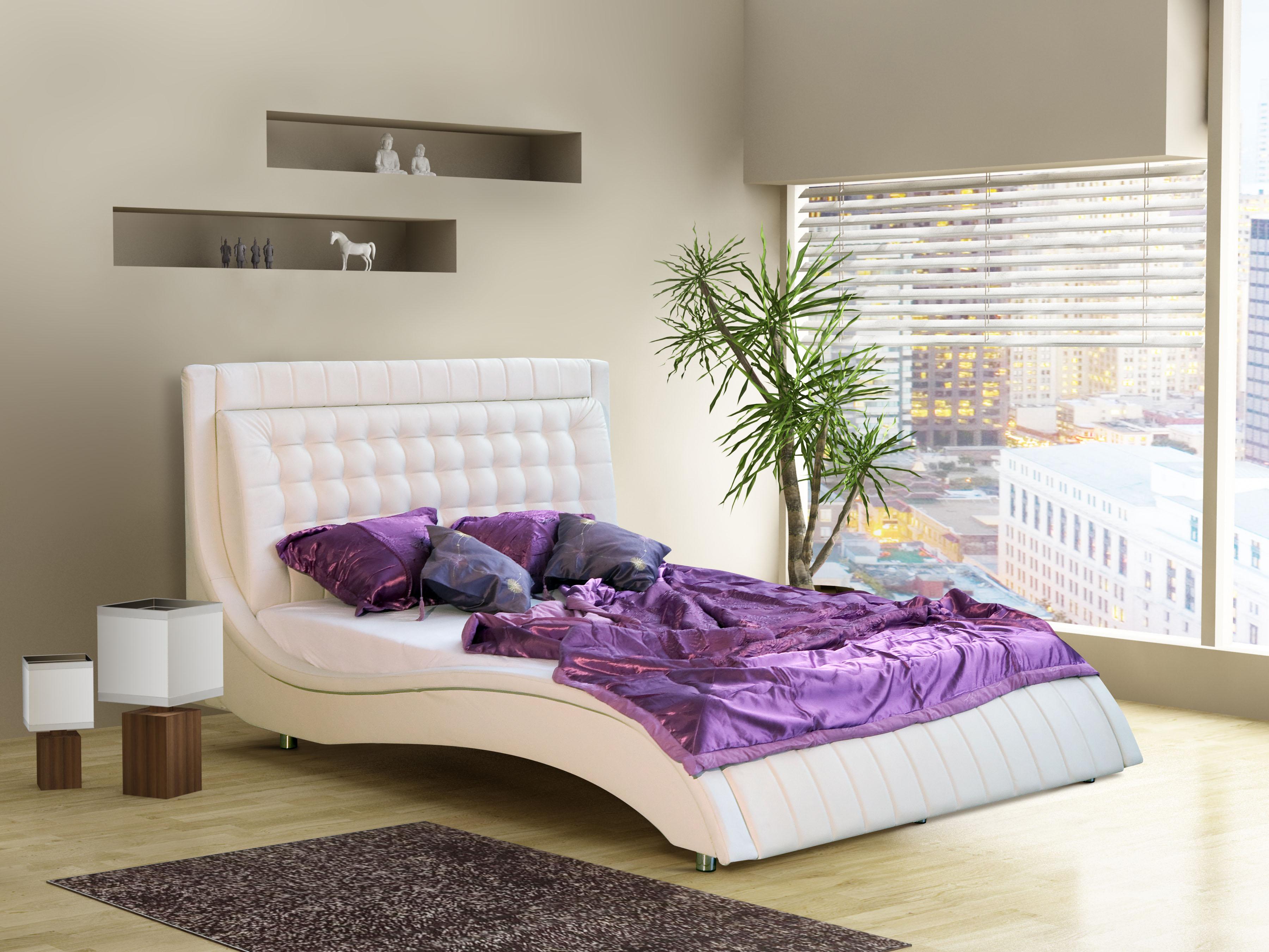 Manželská postel 140 cm - Kilham (s roštem)