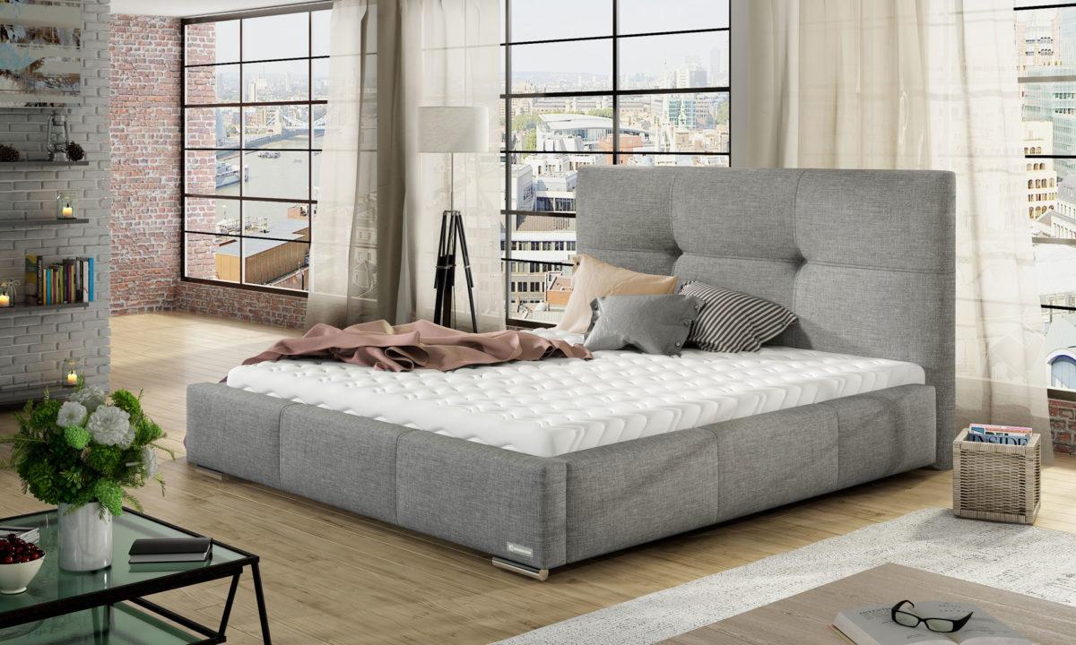 Manželská postel 140 cm - Linkhill (s roštem)