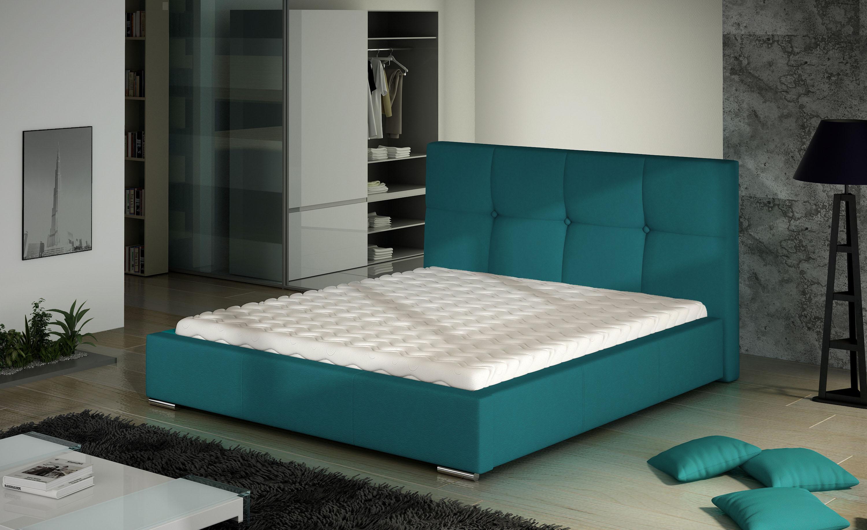Manželská postel 140 cm - Markham (s roštem)