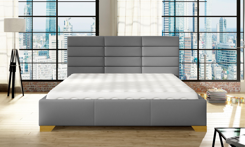 Manželská postel 140 cm - Martham (s roštem)