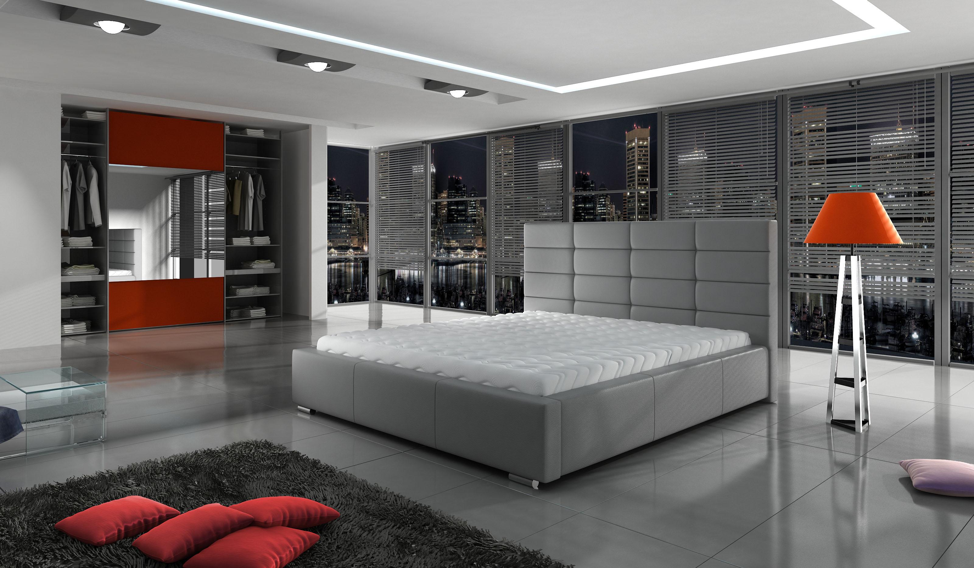 Manželská postel 140 cm - Paulton (s roštem)