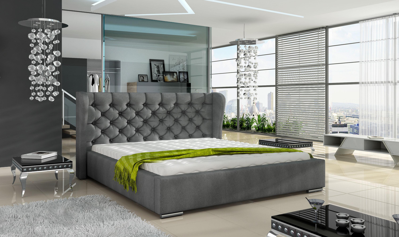 Manželská postel 140 cm - Prescot (s roštem)