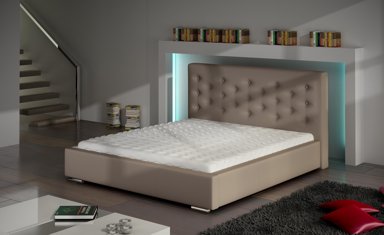 Manželská postel 140 cm - Sawston (s roštem)