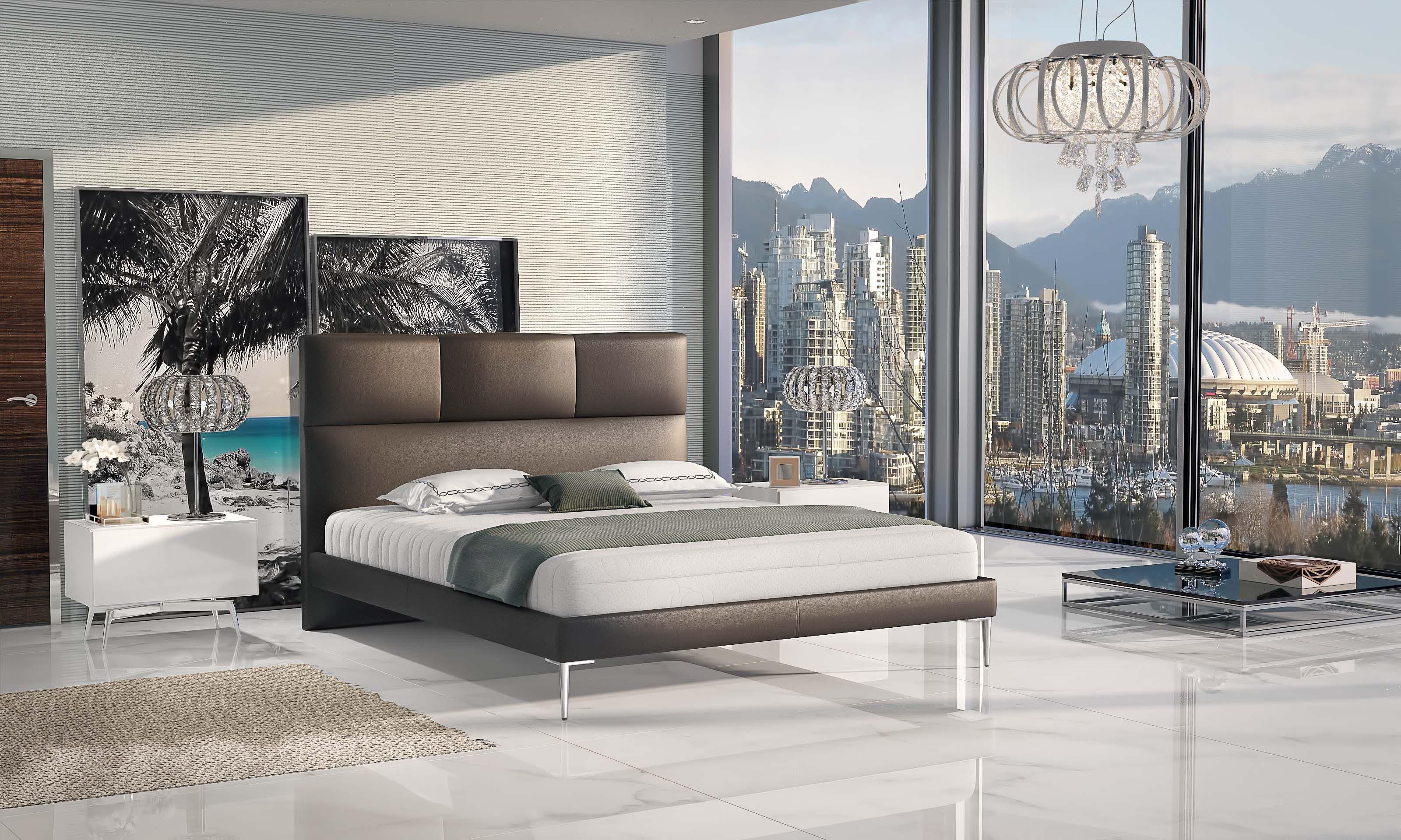 Manželská postel 140 cm - Seaham (s roštem)