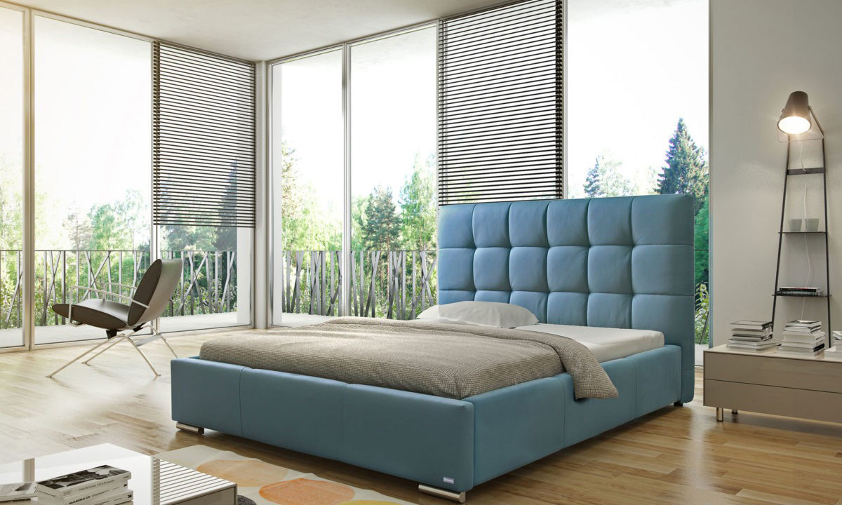 Manželská postel 140 cm - Silkstone (s roštem)