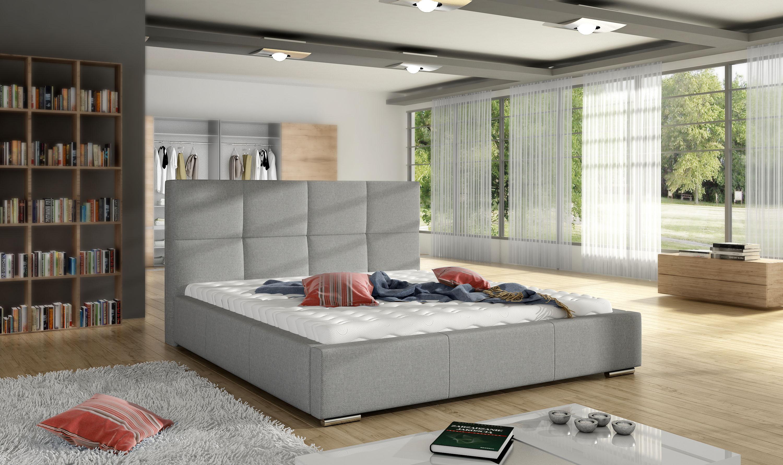 Manželská postel 140 cm - Stedham (s roštem)