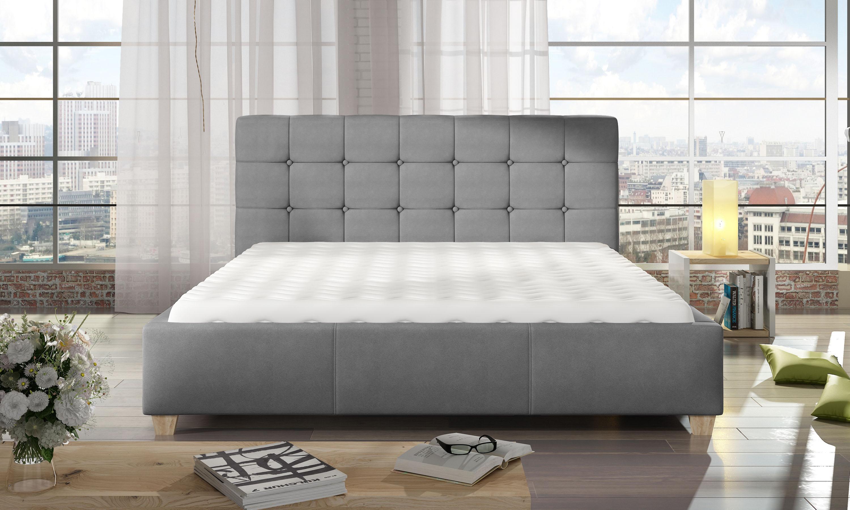 Manželská postel 140 cm - Tattenhall (s roštem)