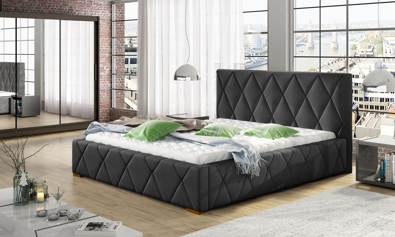 Manželská postel 140 cm - Tredington (s roštem)