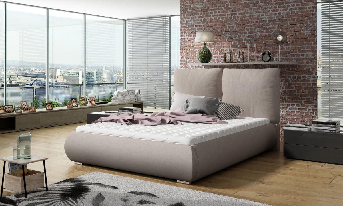 Manželská postel 140 cm - Ullenhall (s roštem)