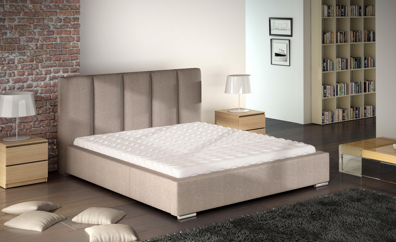 Manželská postel 140 cm - Wansford (s roštem)