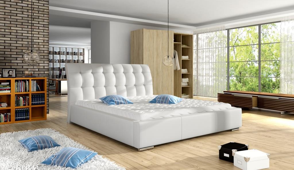 Manželská postel 140 cm - Wentworth (s roštem)