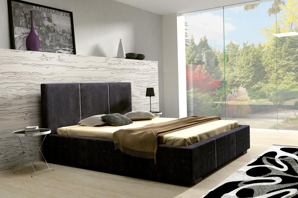Manželská postel 140 cm - Wickham (s roštem)