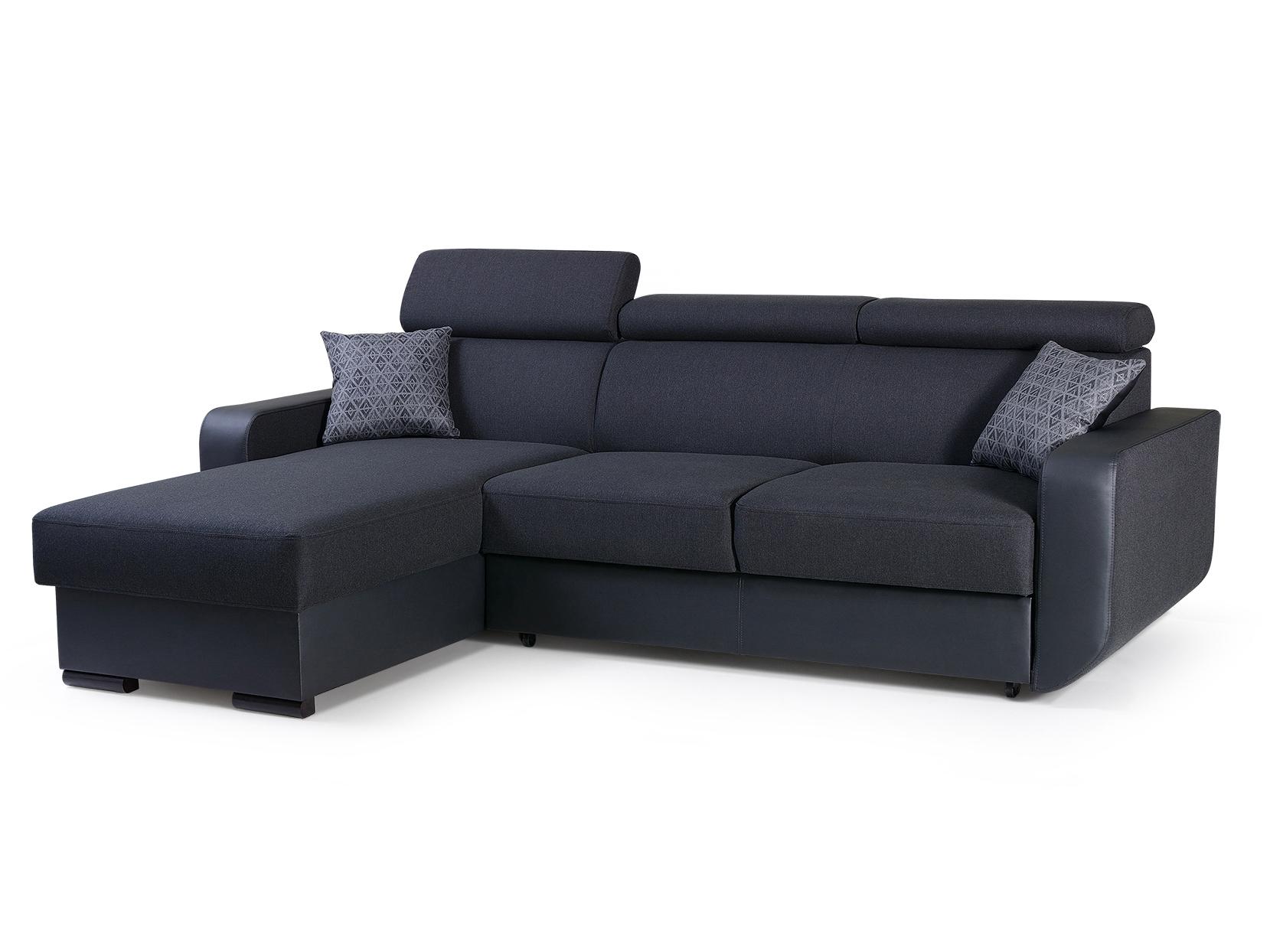 Rohová sedací souprava - Istar (černá) (L)