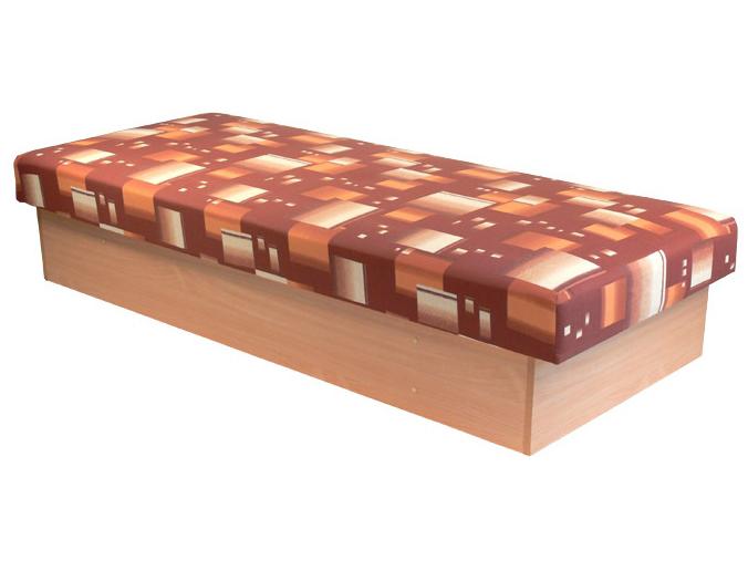 Jednolůžková postel (válenda) 80 cm - Mitru - Edo 12 (s pružinovou matrací)