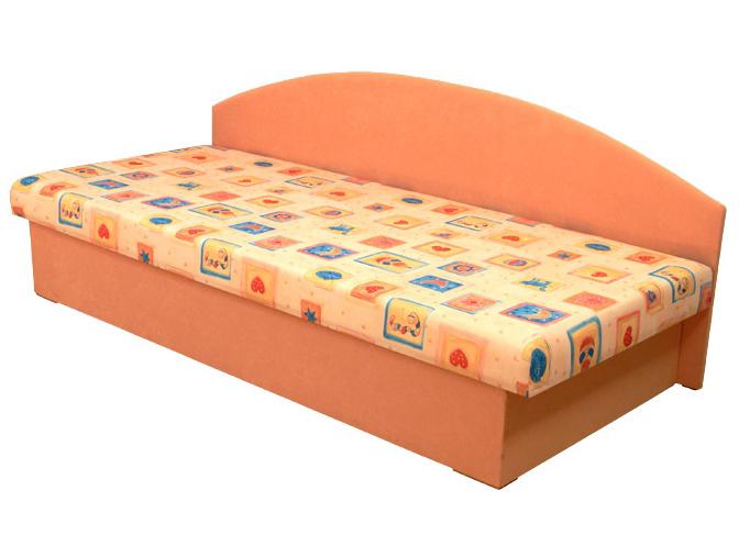 Jednolůžková postel (válenda) 80 cm - Mitru - Edo 3 (s molitanovou matrací)