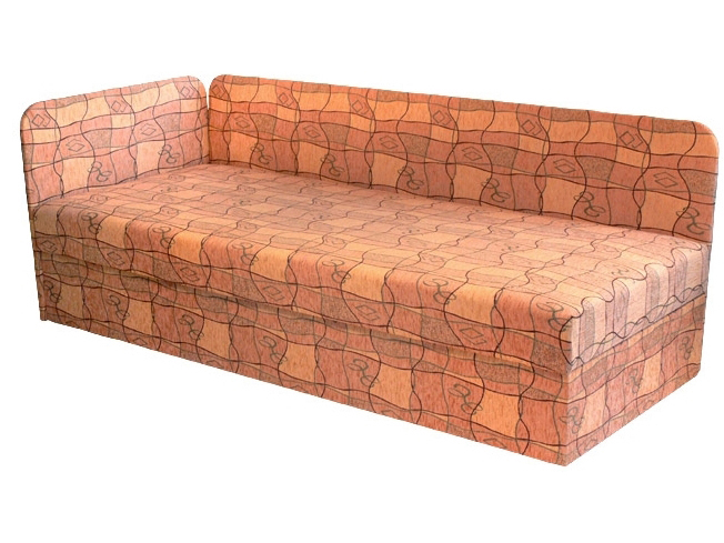 Jednolůžková postel (válenda) 80 cm - Mitru - Edo 4/1 (s pružinovou matrací) (L)