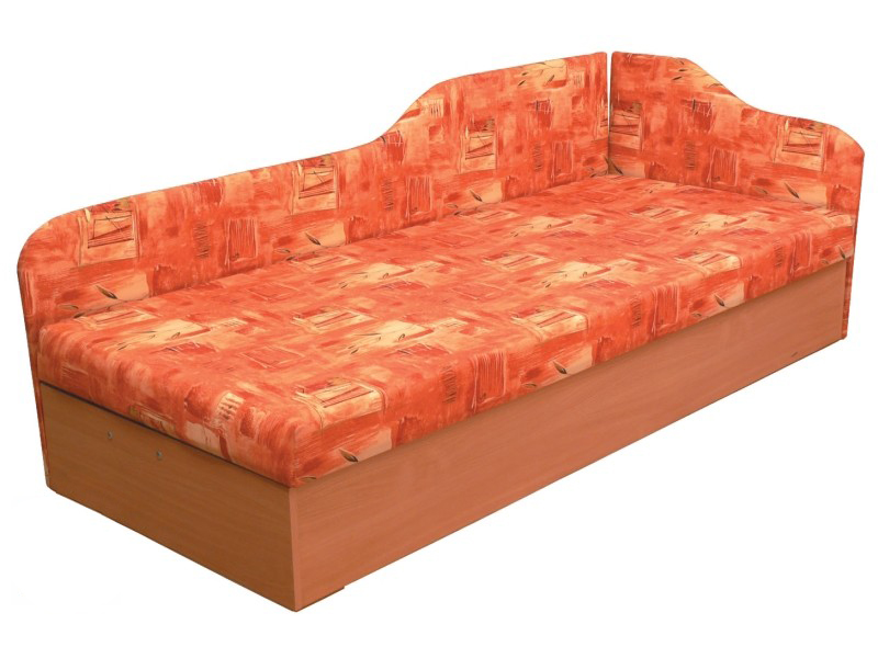 Jednolůžková postel (válenda) 80 cm - Mitru - Edo 4/2 (s pružinovou matrací) (P)