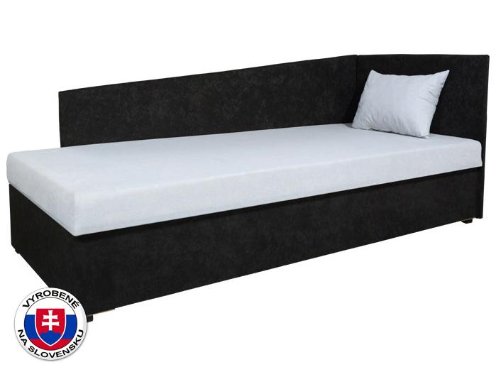 Jednolůžková postel (válenda) 80 cm - Mitru - Edo 4 Lux (s pružinovou matrací) (P)