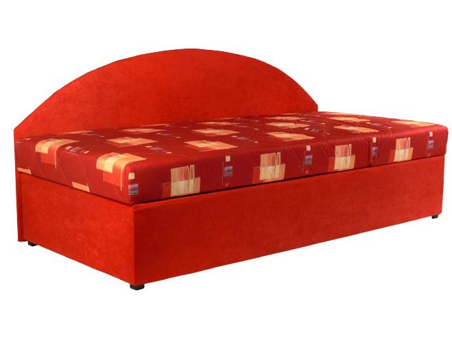 Jednolůžková postel (válenda) 90 cm - Mitru - Kavy (s molitanovou matrací) (P)