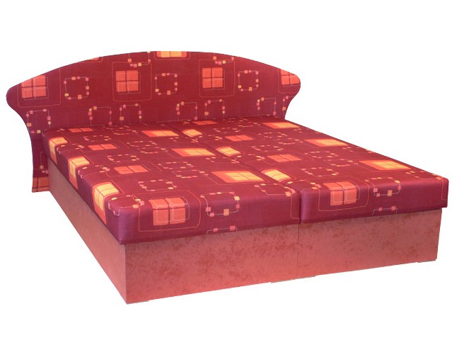 Manželská postel 160 cm - Mitru - Lukáš (s molitanovou matrací)