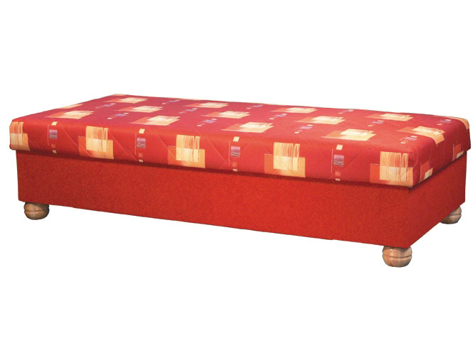 Jednolůžková postel (válenda) 90 cm - Mitru - Miki (s molitanovou matrací)