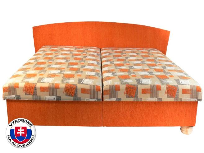 Manželská postel 160 cm - Mitru - Milano (s pružinovou matrací)