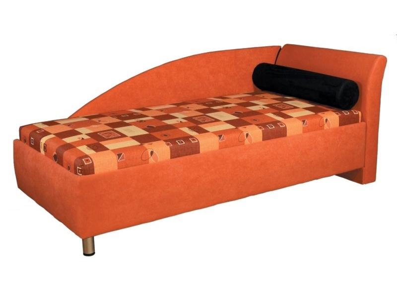 Jednolůžková postel (válenda) 90 cm - Mitru - Perla (s molitanovou matrací) (P)