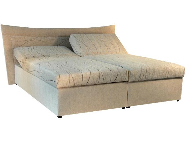 Manželská postel 180 cm - Mitru - Roma 2 (s molitanovou matrací)