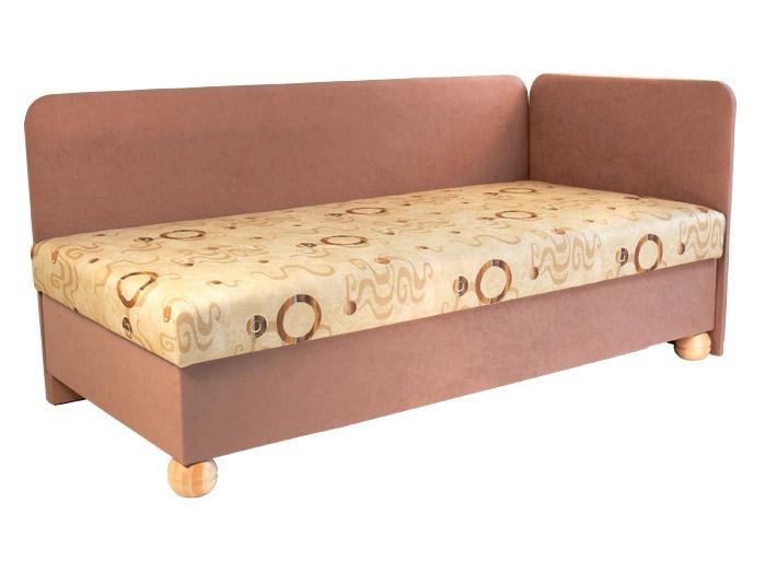 Jednolůžková postel (válenda) 80 cm - Mitru - Siba (s molitanovou matrací) (P)