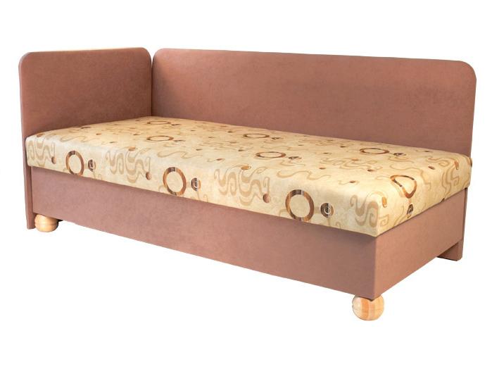 Jednolůžková postel (válenda) 80 cm - Mitru - Siba (s molitanovou matrací) (L)