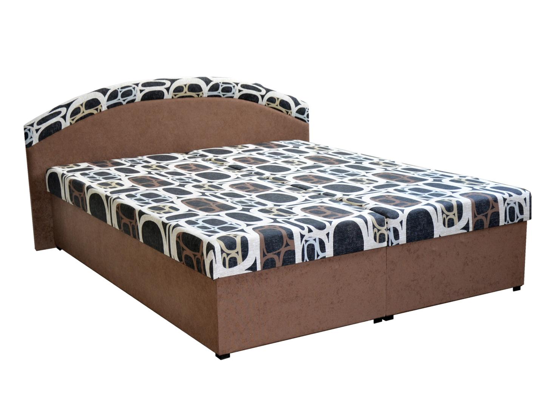 Manželská postel 160 cm - Mitru - Pandora (hnědá) (s rošty a matracemi)