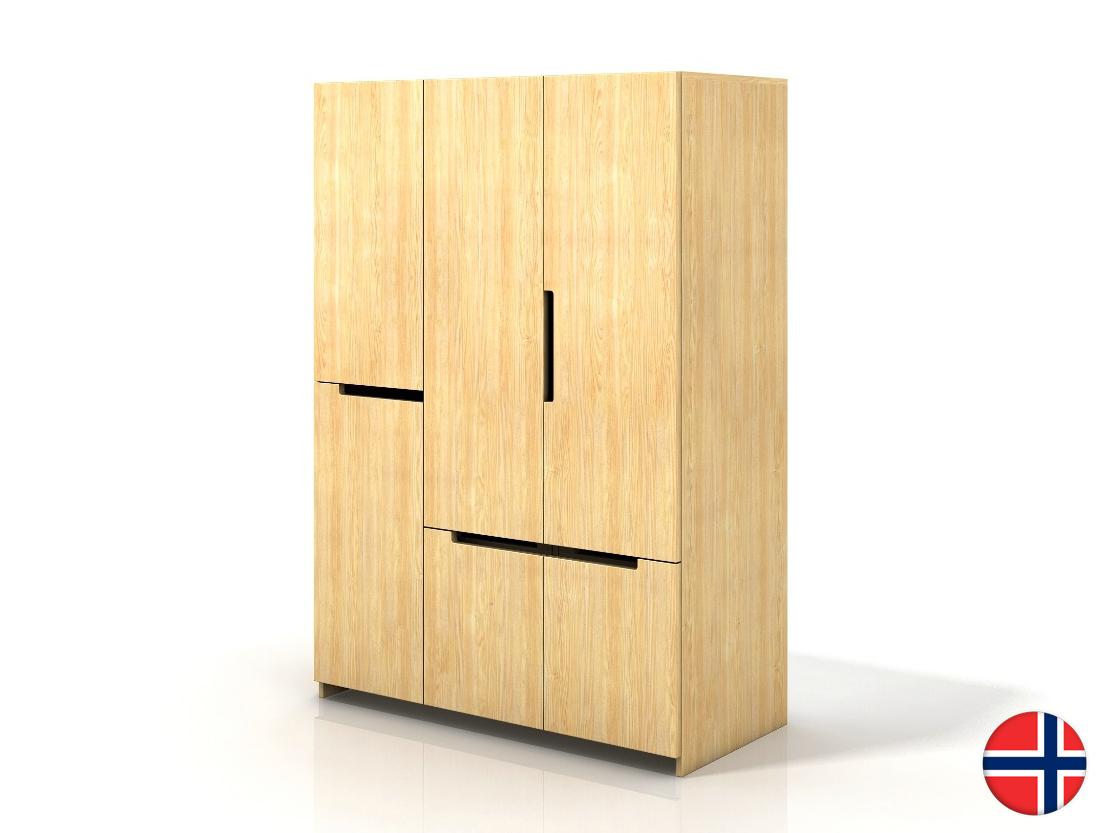 Šatní skříň - Naturlig - Larsos 3D5S (borovice)