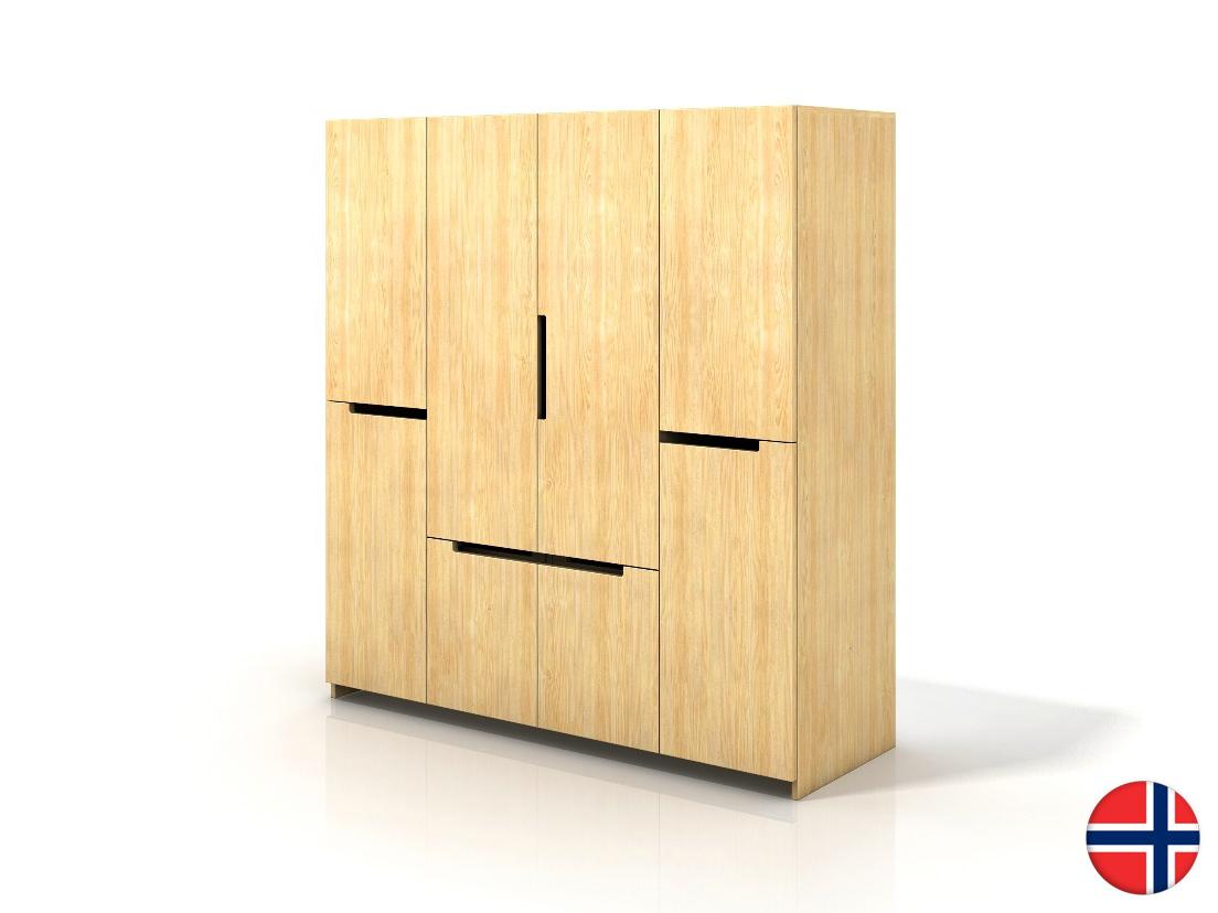 Šatní skříň - Naturlig - Larsos 4D5S (borovice)