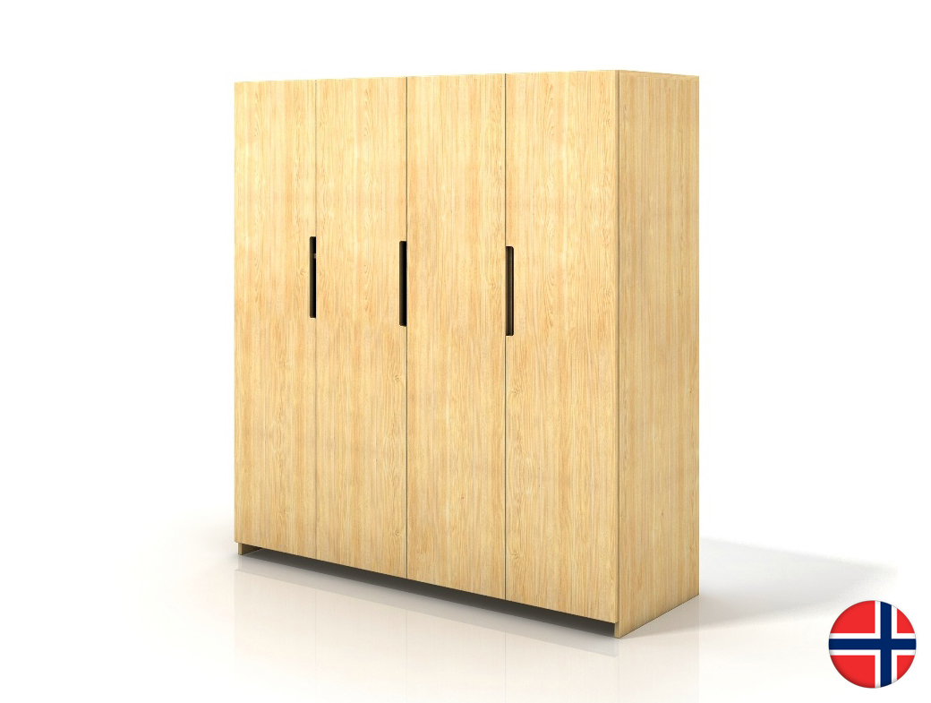 Šatní skříň - Naturlig - Larsos 4D (borovice)