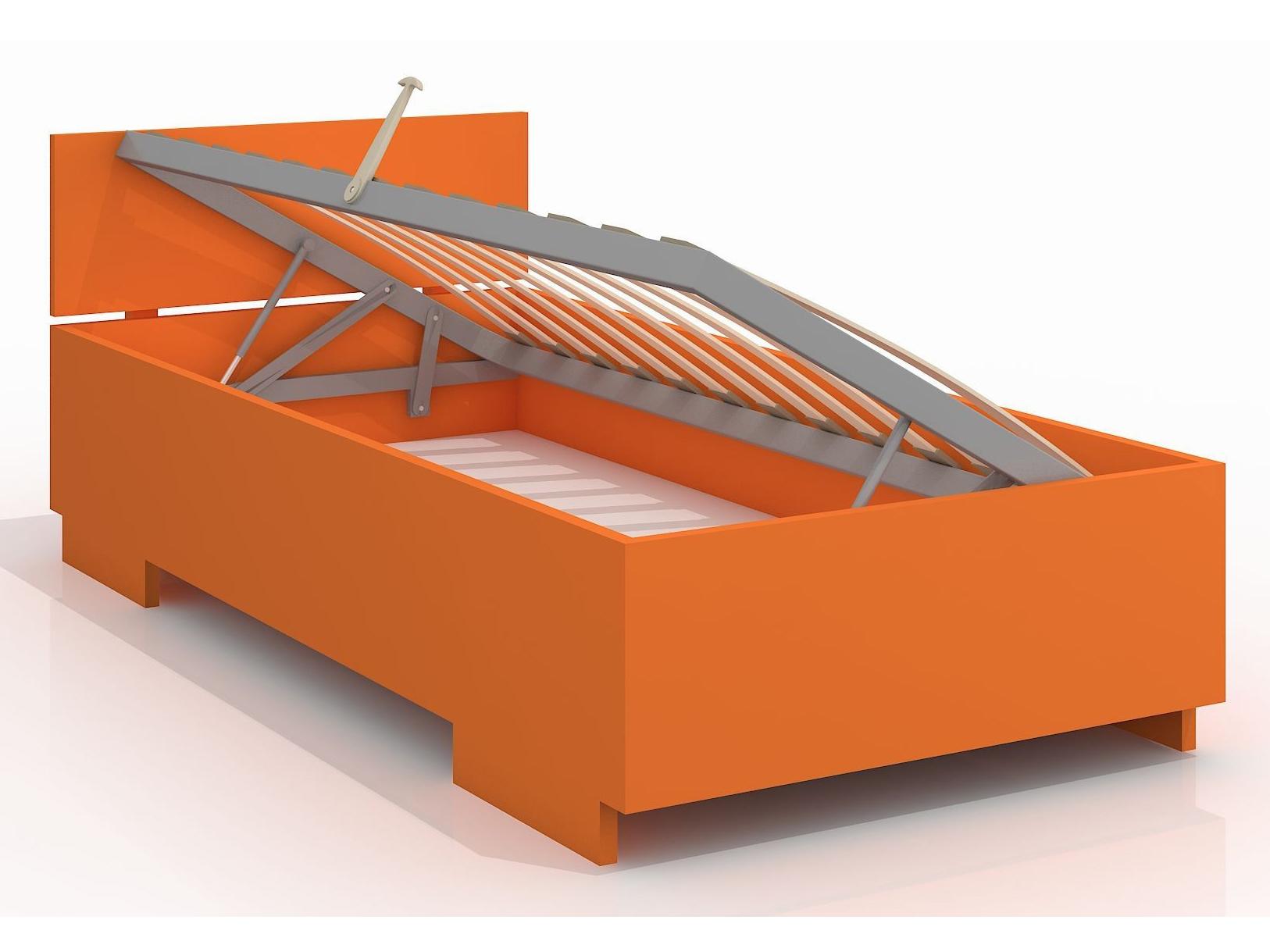 Jednolůžková postel 90 cm - Naturlig Kids - Larsos High BC (borovice) (s roštem)