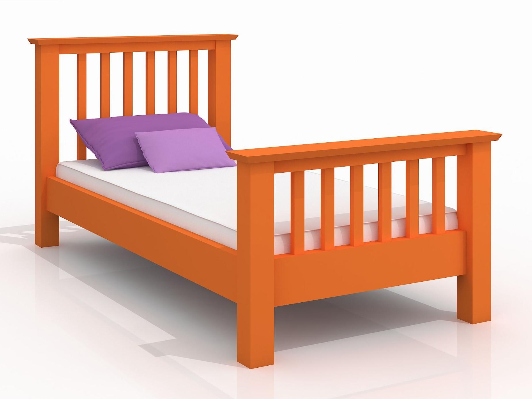 Jednolůžková postel 90 cm - Naturlig Kids - Leikanger (borovice) (s roštem)