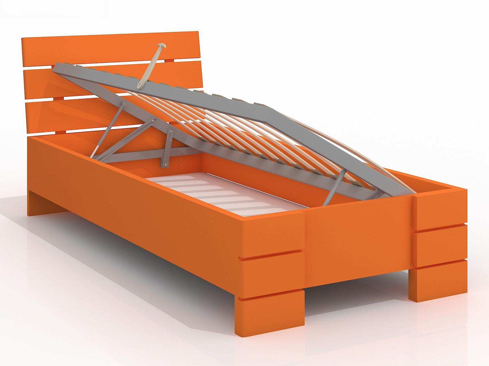 Jednolůžková postel 90 cm - Naturlig Kids - Lorenskog High BC (borovice) (s roštem)