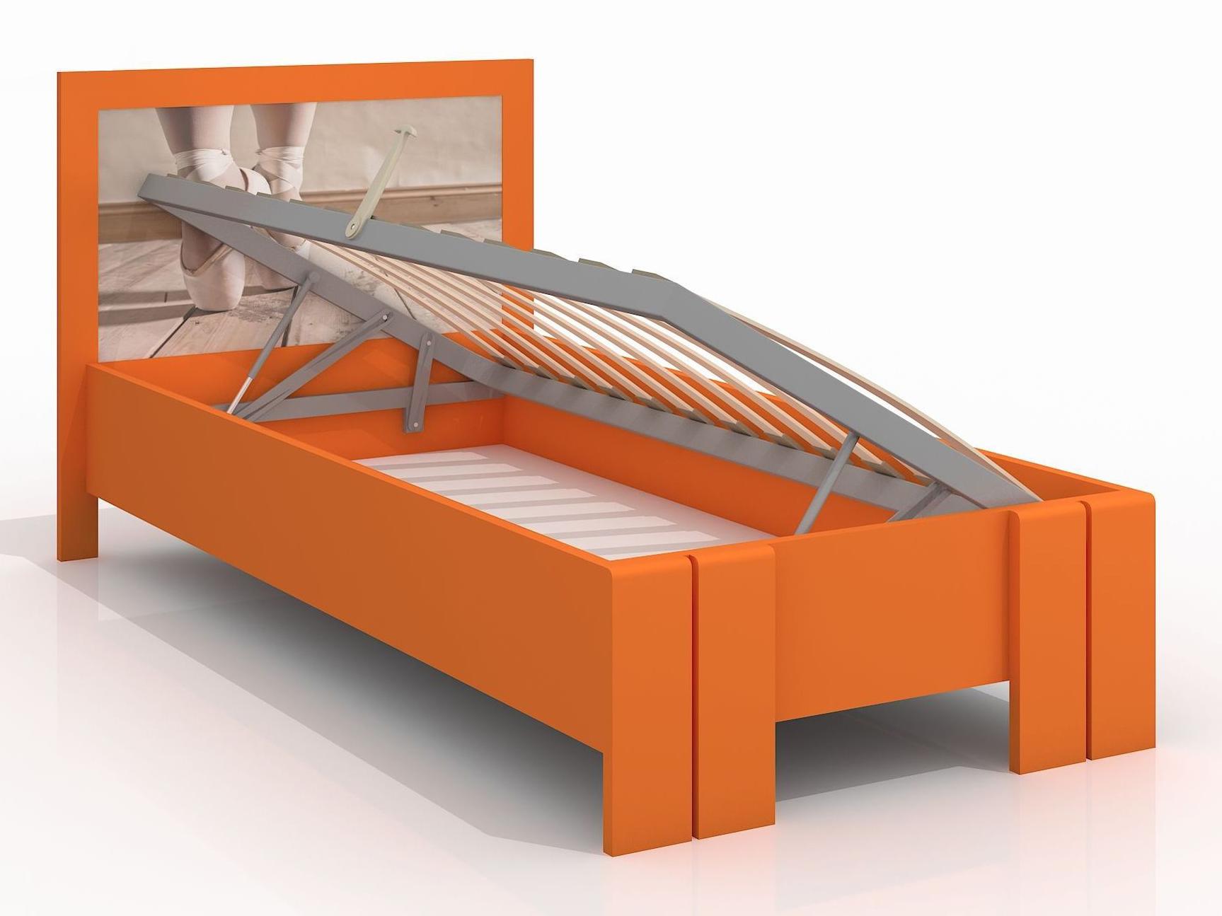 Jednolůžková postel 90 cm - Naturlig Kids - Manglerud High BC (borovice) (s roštem)