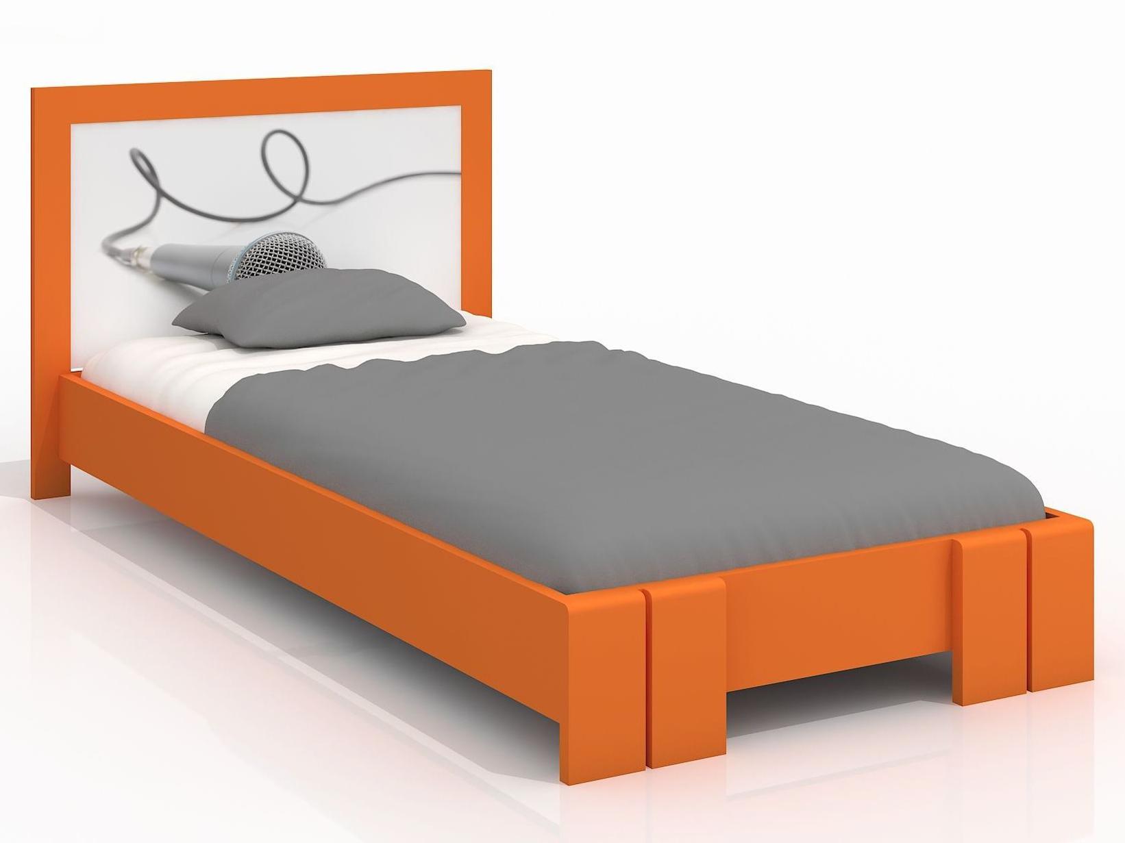 Jednolůžková postel 90 cm - Naturlig Kids - Manglerud (borovice) (s roštem)