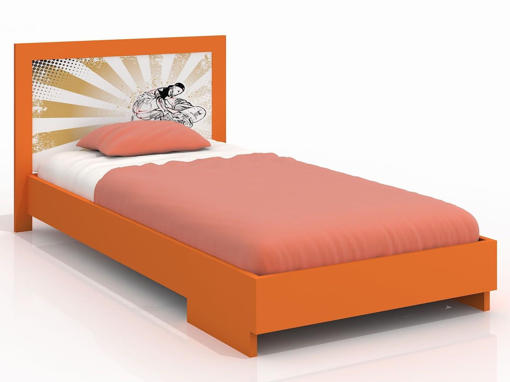 Jednolůžková postel 90 cm - Naturlig Kids - Stjernen (borovice) (s roštem)
