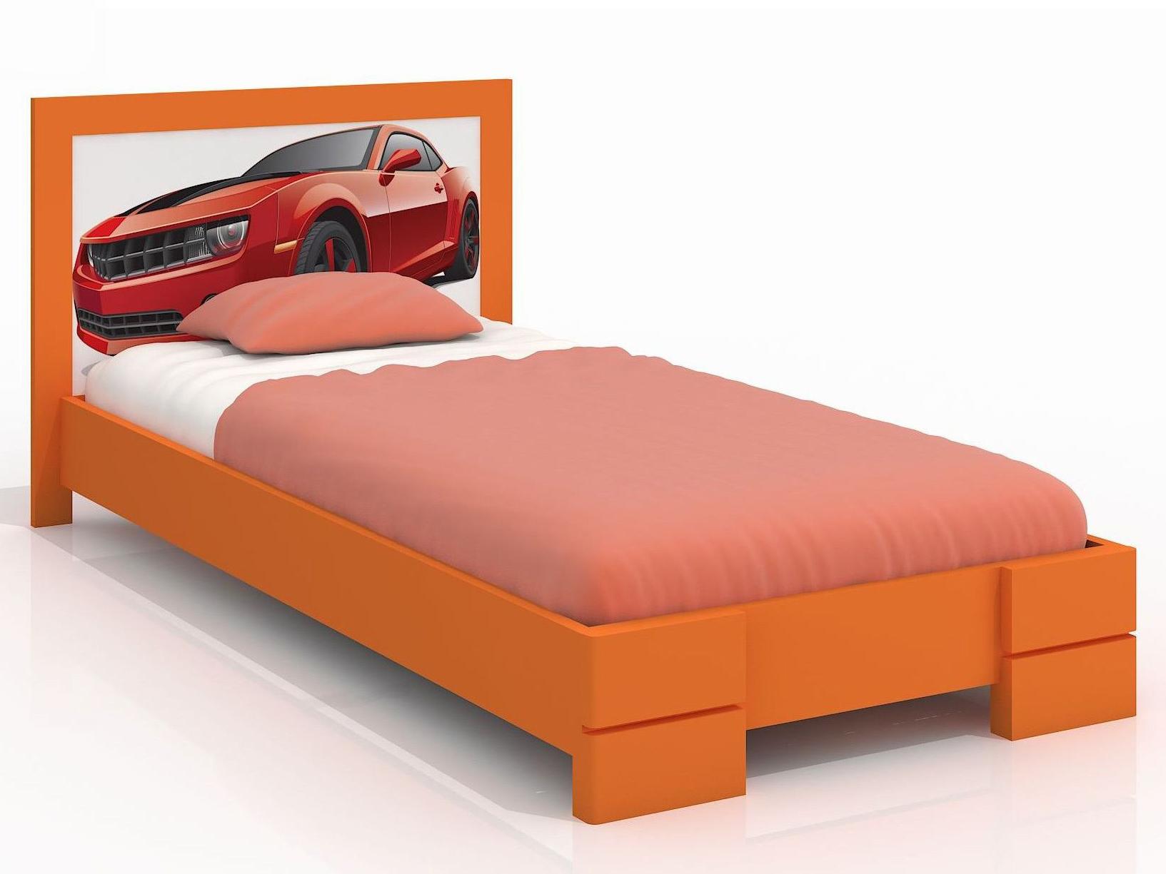 Jednolůžková postel 90 cm - Naturlig Kids - Storhamar (borovice) (s roštem)