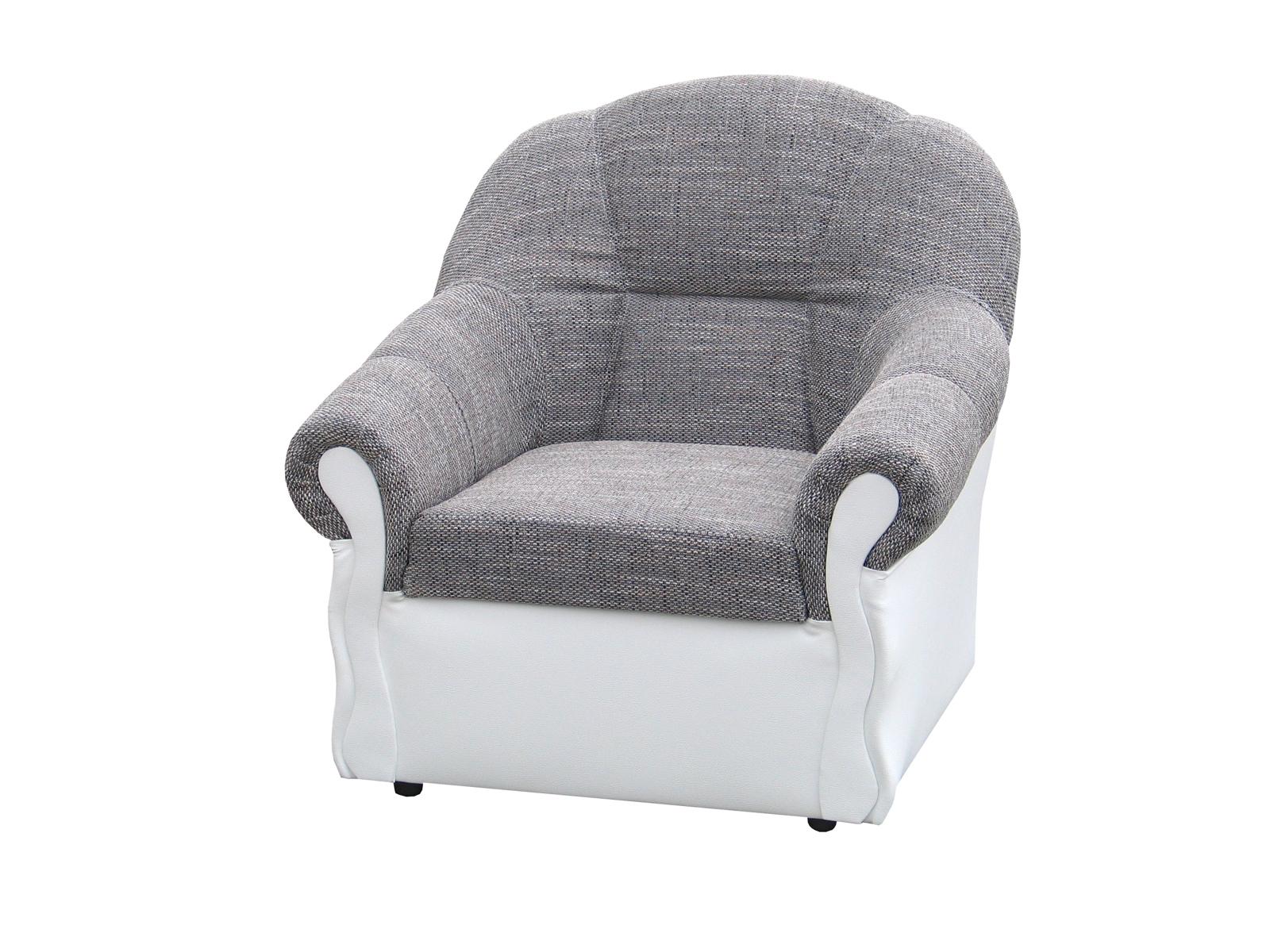 Křeslo - Posed - Forza (šedá + bílá)