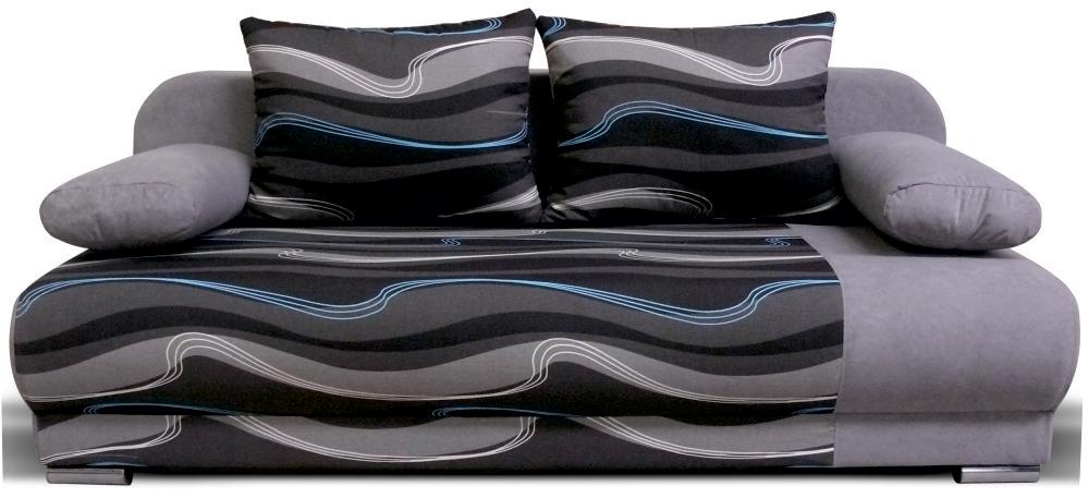Pohovka - Po-Sed - Lexus 3R (šedá + vzor vlny)